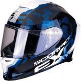 Integrálna prilba Scorpion EXO-R1 Air Ogi čierno-bielo-modrá