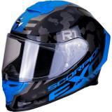 Integrálna prilba Scorpion EXO-R1 Air Ogi strieborno-modrá