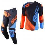 Komplet (dres + nohavice) Shot DEVO Ultimate modro-fluo oranžový