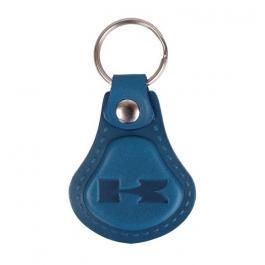 Kožený prívesok na kľúče Kawasaki modrý