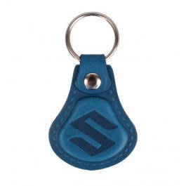 Kožený prívesok na kľúče Suzuki modrý
