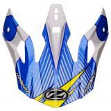 Šilt pre prilby ZED X1.9 a X1.9D bielo-modro-žlto-čierny