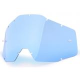 Modré plexi pre motokrosové okuliare 100% Racecraft/Accuri/Strata