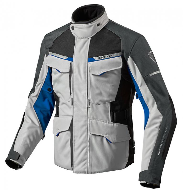1d3d859a9 Bunda na motorku Revit Outback 2 strieborno-modrá vypredaj výpredaj ...