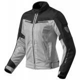 Dámska bunda na motorku Revit Airwave 2 strieborno-čierna výpredaj