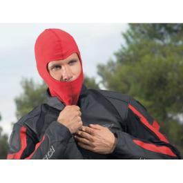 Moto kukla pod helmu červená