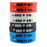 Moto náramok Biker s krvnou skupinou A RH-