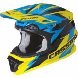 Motokrosová prilba Cassida Cross Pro - modro / žlto / čierna