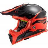 Motokrosová prilba LS2 MX437 Fast Evo Roar čierno-červená