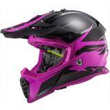 Motokrosová prilba LS2 MX437 Fast Evo Roar čierno-fialová