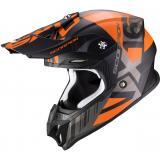 Motokrosová prilba Scorpion VX-16 Air Mach čierno-oranžová
