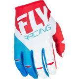 Motocrossové rukavice FLY Racing Kinetic 2018 - USA červeno-bielo-modré
