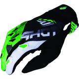 Motocrossové rukavice Shot DEVO Ultimate čierno-fluo zelené