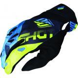 Motocrossové rukavice Shot DEVO Ultimate modro-fluo žlté