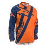 Motokrosový dres AXO Motion 4 Jersey modro-fluo oranžový výpredaj