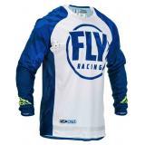 Motokrosový dres FLY Racing Evolution modro-biely