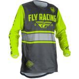 Motokrosový dres FLY Racing Kinetic ERA 2018 - USA šedo-fluo žltý