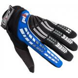 MX rukavice na motorku Pilot čierno-modré