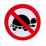 Nálepka NO TURTLES