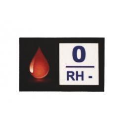 Nálepka s krevní skupinou 0 RH-