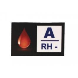 Nálepka s krevní skupinou A RH-