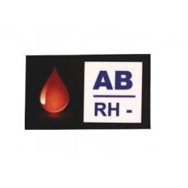 Nálepka s krevní skupinou AB RH-