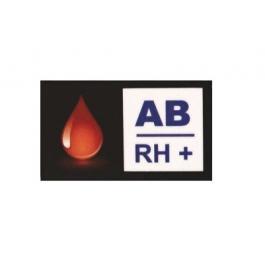Nálepka s krevní skupinou AB RH+