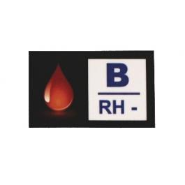 Nálepka s krevní skupinou B RH-