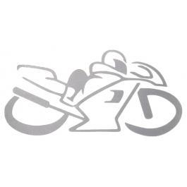 Nálepka silueta Bike strieborná