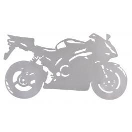 Nálepka silueta Sport Bike strieborná