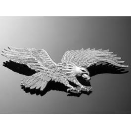 Nalepovací emblem Highway Hawk, chrom