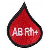 Nášivka s krvnou skupinou kvapka AB Rh +
