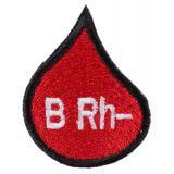 Nášivka s krvnou skupinou kvapka B Rh-