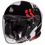 Otvorená prilba na motocykel MT Thunder 3 SV Venus čierno-bielo-červená