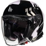 Otvorená prilba na motocykel MT Thunder 3 SV Venus čierno-šedo-biela