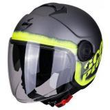 Otvorená prilba na motorku Scorpion EXO-CITY Blurr strieborno-fluo žltá