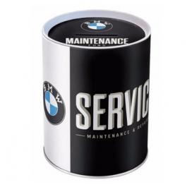 Plechová pokladnička BMW Service