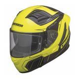 Prilba na motorku Cassida Cyklón - čierno / žltá