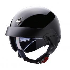 Prilba na moto Scorpion EXO-100 čierna lesklá