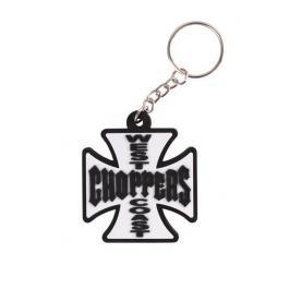 Prívesok na kľúče West Coast Chopper biely