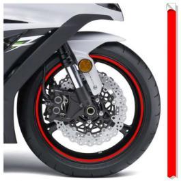Reflexná páska na ráfky Print fluo červená