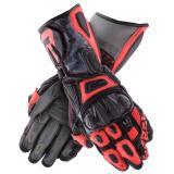 Rukavice na motocykel Rebelhorn Rebel čierno-camo-fluo červené