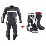 SET: Kombinéza RSA Nero + moto topánky RSA Racing II