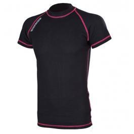 Termo tričko RSA Heat čierno-ružové krátký rukáv