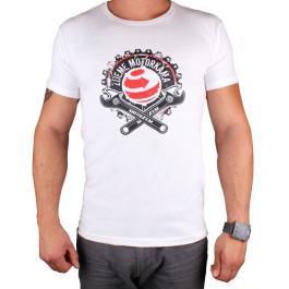 Tričko s motívom Motozem Žijeme motorkami bielej