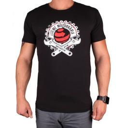 Tričko s motívom Motozem Žijeme motorkami čierne