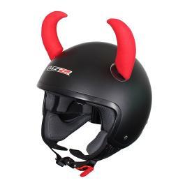 Uši na helmu Rožky červené veľké