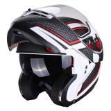 Vyklápací moto prilba Axxis Optimus čierno-červeno-biela výpredaj