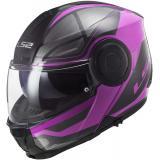 Vyklápacia prilba na motocykel LS2 FF902 Scope Axis čierno-fialová