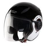 Helma na skúter otvorená Nox N180 Next čierno-biela vypredaj
